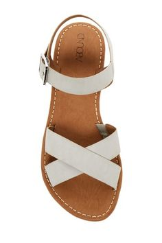 Meesha Ankle Strap Sandal Image of Abound Meesha Flat Sandal size 7 Sandals Outfit, Cute Sandals, Ankle Strap Sandals, Flat Sandals, Cute Shoes, Me Too Shoes, Women's Shoes, Shoe Boots, Golf Shoes