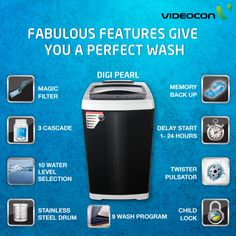 19 best videocon washing machine images on pinterest washer the digi pearl fully automatic machine comes with powerful features to give you a perfect wash cheapraybanclubmaster Image collections