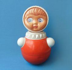 Vintage Soviet Roly Poly Doll Nevalyashka
