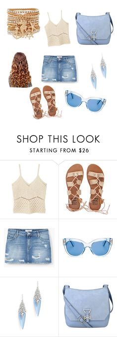 """""""Walk on the Beach"""" by mysticalwiccan ❤ liked on Polyvore featuring MANGO, Billabong, Kate Spade, Alexis Bittar, Nine West and ALDO"""