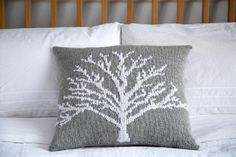 The Moontree Pillow is inspired by a snowy landscape in winter, when the noise of everyday life slowly fades away under the falling snow and the trees stand sleeping and dreaming of spring while the moonshine is reflected in every tiny snow crystal.Cuddle up with a cup of tea and your Moontree pillow when it's cold outside and the snow is falling..This pillow is a perfect colourwork project for beginners. It is entirely knit in stockinette stitch, the tree motif is embroidered on using…