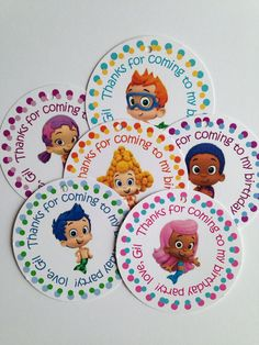 BUBBLE GUPPIES Birthday Party Tags Cupcake Toppers by CurlyPrints, $5.00 Multiple uses and for only 5 bucks! Love it