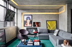 Contemporary Living Room Trends That Stand The Test Of Time House Design, Interior, Interior Architecture Design, Living Room Decor, Home Decor, House Interior, Window Treatments Living Room, Concrete Interiors, Living Decor