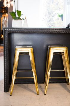 Gold Rochelle Stools are crazy gorgeous!
