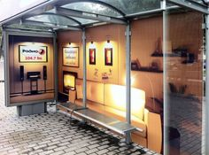 Bus stop - photo from PuroMarketing