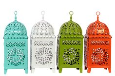 Indian Summer Lanterns (Set of Four)