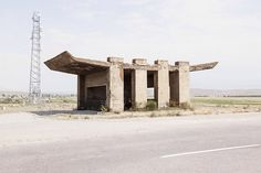 Photographer Christopher Herwig Hails The Brutal Charm Of The Soviet Bus Stop – Design You Trust Bus Shelters, Roadside Attractions, Construction Worker, Bus Stop, Brutalist, Local Artists, Landscape Architecture, Sustainable Architecture, Residential Architecture