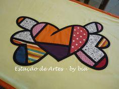 Uma inspiração em Romero Brito ... arte em patch vitral ... amei fazer