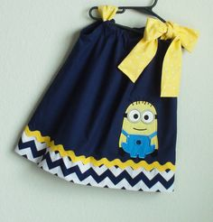 Despicable me Minion Dress birthday gift by CreativeBagsForKids, $33.00