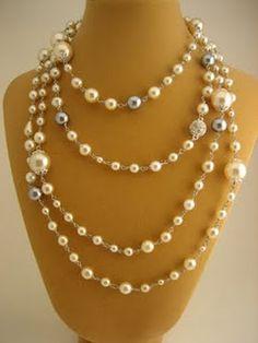 Coco Pearl Necklace Silver