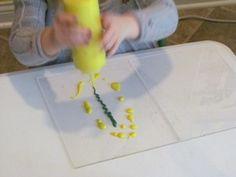 Plexi-painting in preschool