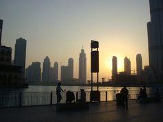 Dubai, August 2010, sunset view from Burj Kalifa bottom. Simply amazing