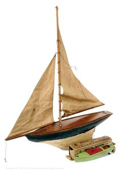 Lines Bros (Triang) Pre-War K-Type Wooden Speedboat