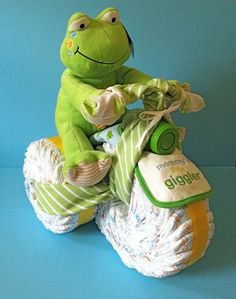 Diaper Tricycle  Diaper Cake Diaper Trike by PamperedBabyCreation, $80.00