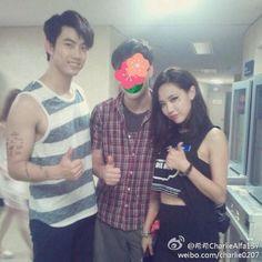 140810 Taecyeon & Fei from 希希CharlieAlfa137's Weibo