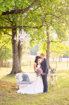 romantic photos, outdoor chandelier, chic couch, outdoor sofa, photo props, beautiful scenes, gorgeous couple, photographer ::Jessica + Adam's private, outdoor wedding portrait photography session:: with Nikki