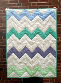 salty oat: modern quilts: quilting project: zig-zag quilt