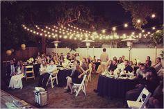 backyard wedding ideas - Love it!! Reminds me of my cousin's outdoor rehearsal Wedding in Louisiana!!