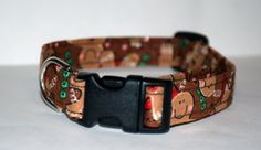 Gingerbread Sparkle Dog Collar // Handmade & by PawesomePups