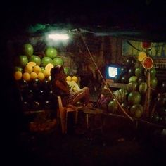 Roadside watermelon vendor (Tarlac, Philippines, 2012)