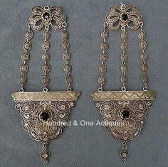 Sign-In-Antique-Qing-Dynasty-Chinese-Silver-Filigree-Headdress-Ornament-Earrings