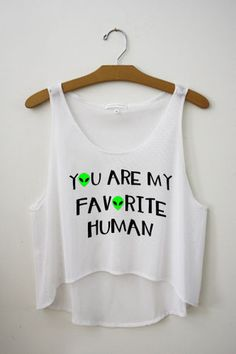 you are my favorite human crop top