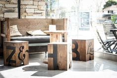 Lucciano´s & Burbar on Behance - like the box seating' mobility.