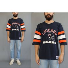Vintage Chicago Bears Champion Jersey Tshirt 80s by DiveVintage