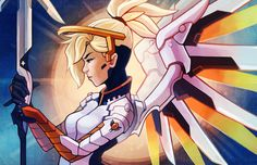 Mercy - Overwatch by RinTheYordle.deviantart.com on @DeviantArt