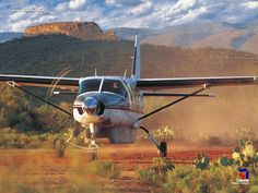 Airstrip next to the Verde River in AZ! Propeller Plane, Aircraft Propeller, Cessna 210, Cessna Caravan, Bush Plane, Private Plane, Aircraft Photos, Grand Caravan, Fighter Jets