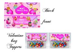 Valentine's day bag toppers, Shopkins, Valentine's day