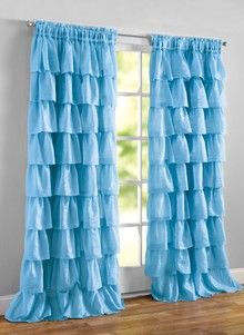 Ruffle Curtains Walmart - The Best Image of Curtain Girl Curtains, Ruffle Curtains, Home Curtains, Curtain Valances, Curtains Walmart, Home Decor Furniture, Home Decor Bedroom, Diy Room Decor, Layered Curtains