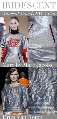 Trend Council:  Material Trends FW 15/16 - IRIDESCENT