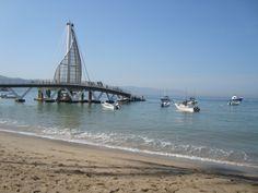the new pier at Playa Los Muertos, PV Mexico