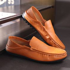 4c94b045c4a3 Men Leather Slip On Mens Driving Moccasin Loafer Casual Soft Comfortable  Flats S - US 23.97
