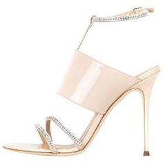 344971700 Giuseppe Zanotti New Nude Patent Leather Crystal Evening Sandals Heels in Box  Nude Sandals, Nude