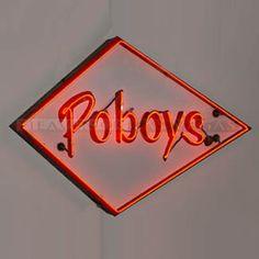 """neon sign -poboys 72"""" x 48"""""""