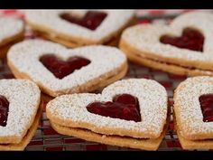 Linzer Cookies Recipe Demonstration - Joyofbaking.com I remember buying 1/2 dozen of these and the N.Y. Times on any given Sunday.spending a long lovely day in the studio reading..