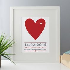 The Day You Stole My Heart Personalised Framed Print