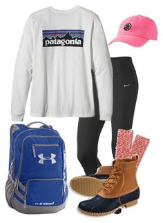 """""""We straight up chill!"""" by sassysouthernprep99 ❤ liked on Polyvore featuring NIKE, J.Crew, Patagonia, L.L.Bean, Under Armour, Southern Proper, women's clothing, women's fashion, women and female"""
