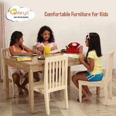 A perfectly sized table-and-chair set is a must-have for your kid's room! #MyLorange #KidsDecor #KidsFurniture