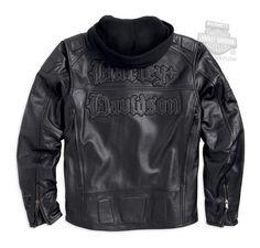 Harley-Davidson® Mens Sharlot Reflective 3-in-1 Black Leather Jacket 97017-15VM