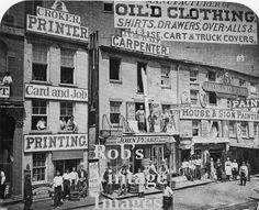 New York City SOHO Downtown Manhattan1880 Vintage photo