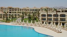 Sharm El Sheikh, Egypt, Cleopatra Luxury Resorts Collection Los Roques sun beds and parà parasols