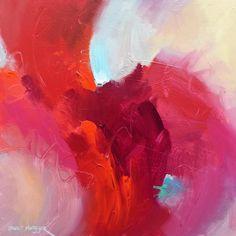 """Red Love"" 30x30 Acrylic on CanvasDavid M. Kessler"