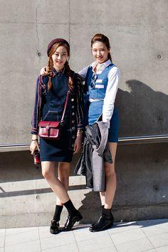 On the street… Lee Arim, Son Nuri Seoul fashion week 2016 S/S