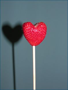 strawberry heart.would b good with fondue fountain