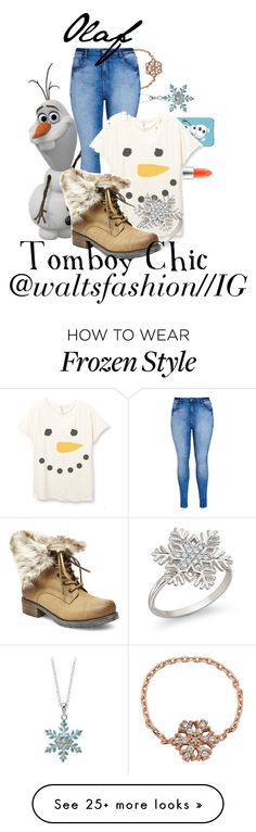"""Olaf-Tomboy Chic"" by disney-0utfits on Polyvore featuring Amorium, Jacmel, MAC Cosmetics, City Chic, Natures Jewelry, Steve Madden, women's clothing, women, female and woman"