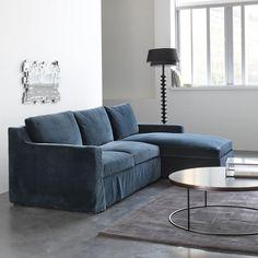 Canapé d'angle JOSEPH, velours AM.PM | La Redoute Mobile