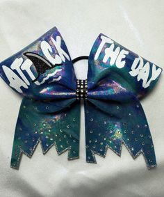Attack the day in this rhinestone holographic turquoise bow. Big Cheer Bows, All Star Cheer, Cheer Mom, Cheerleading Jumps, Cheer Stunts, Cheerleading Gifts, Cheer Pictures, Cheer Pics, Cheer Quotes